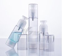 Wholesale Empty Bottle Perfume 15ml Spray - 15ml 30ml 50ml Spray Bottle Empty Cosmetic Perfume Container Vacuum Pressure Mouth bottle vacuum pump lotion bottle