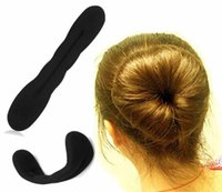 Venda quente 2PCS / lot Hair Braider Magic French Sponge Easy DIY Hair Styling Tools Beauty Bun Maker Twist Curler Hair Roller Coiffure