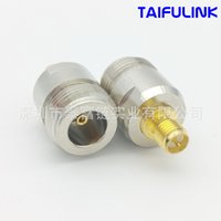Wholesale N Sma Male - Taifullink SMAK N NK RP Female Head To SMA Female Head Male Pin Radio Frequency Coaxial Connector High Frequency Conversion Adapter HS554