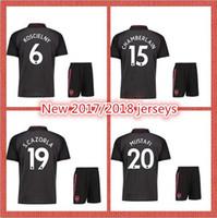 Wholesale Jersey Dress Shorts - 2017 2018 New soccer suit OZIL jersey LACAZETTE RAMSEY ALEXIS men's soccer dress black suit short sleeve jersey