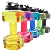 Wholesale New Outdoor Cycling Camping Bike - 2.2 L Dumbbells Shaped Plastic Big Large Capacity Gym Sports Water Bottle Outdoor Fitness Bicycle Bike Camping Cycling Kettle New Wholesale