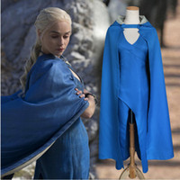 Wholesale Performance Plus - New game of thrones woman halloween costume ice and fire song hooded cloak stage performance plus size halloween cosplay costumes adult