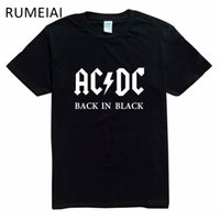 2017 Nuovo Camisetas AC / DC band rock T Shirt Mens acdc Graphic T-Shirt Stampa Casual Tshirt Uomo O Collo Hip Hop Manica Corta