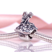 Wholesale Pandora Charms Fairy - New 925 Sterling Silver Forest Fairy Charm Fit European Pandora Style Jewelry Bracelets Necklaces & Pendant 791734