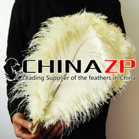 Wholesale Supplier Party Supplies - Leading Supplier CHINAZP Factory Size 16-18inch (40-45cm) 50pcs lot Selected Prime Quality Dyed Cream DIY Ostrich Plume Feathers