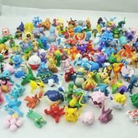 Wholesale Wholesale Mini Anime - 144 pcs lot poke Figures Toy Cartoon Anime Mini Action Figures Children's Toys Birthday Gifts Mixed 2-3cm