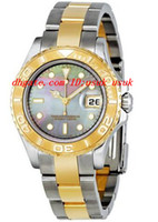 Wholesale pearl wrist watch resale online - Top Quality Luxury Watches Black Mother Of Pearl Dial Two tone MM Ladies Watch Wrist Watches