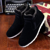 Wholesale Cow Full Grain Leather Shoes - New Korean men's Winter snow boots,male cotton padded shoes boots Martin boots,high-top boots size;39-44