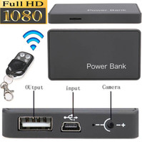 Wholesale Spy Cameras 5mp - 3000mA 5MP HD 1080P H.264 Power Bank Spy Camera Motion detection Hidden DV DVR with Remote Control Nanny Cam Security Camera