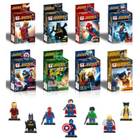 Wholesale Little People Toys - Fashion Avengers Alliance Building Block Little People A full Range of Super Hero Assembly Blocks Educational Toys For Child's Gift