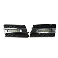 2pcs LED Daytime Running Light Super Bright DRL Lamps Kit para Mercedes Benz W204 GLK300 GLK350 GLK500 2008 ~ 2012 Daylight Fog Bulbs Waterproo