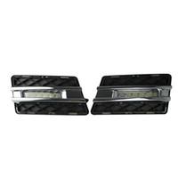 Wholesale Daytime Mercedes - 2pcs LED Daytime Running Light Super Bright DRL Lamps Kit for Mercedes Benz W204 GLK300 GLK350 GLK500 2008~2012 Daylight Fog Bulbs Waterproo
