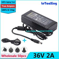 Wholesale 36v ac power supply resale online - 50pcs AC V To DC V A Power Supply W Adapter Lighting Transformers with US EU AU UK Cord Cable