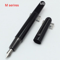Wholesale Classic Closures - Hot Sell-Classic Limited Edition M Series black fountain pen Magnetic closure cap with school office supplies pen ink mb gift pen