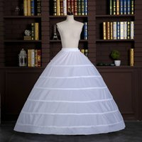 Wholesale Petticoat Under Dress - 2018 New Arrival 6 Crocheted Bridal Petticoat Ball Gown Wedding Dresses Petticoats Six Crinoline Skirt Under Bridal Gowns