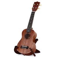 Wholesale Engraved Guitars - wholesale--fashion 4 strings brown best engraving Ukulele No-border Semi-closed rosewood sapele 21 Inch Ukelele free shipping