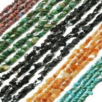 Venda por atacado-Hot 5-8mm Natural 15 Tipo de Material Pedra Freeform cascalho solto Chip Beads Strand 34