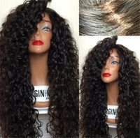Wholesale Long Remy Lace Front Wigs - Virgin Burmese 9A grade 150%Density remy hair bouncy curly 100% virgin hair full lace human hair wigs