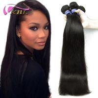 Wholesale Malaysian Off Black - 50% Off XBL Virgin Brazilian Malaysian Indian Peruvian Hair Extensions Straight Human Hair DHL Free Shipping