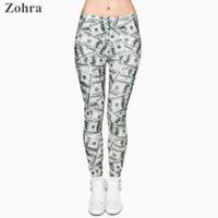 Wholesale Dollar Leggings - Wholesale-Money dollar 3D Graphic Full Print Leggings Women's Clothing Ladies fitness Legging Stretchy Trousers Skinny Leggings Pants