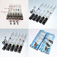 Wholesale Pipe Vaporizers - 10pcs Glass Hookah atomizer vhit atomizer tank Dry Herb Wax Vaporizer herbal vaporizers pen water filter pipe ecig e cigarette bongs