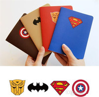Wholesale Trend Notes Wholesale - Superhero notepad Notes superman batman Captain America transformers students Office School Supplies heros avengers cartoon theme party gift