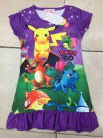 Wholesale Dresses Extra Pieces - New Fashion Princess Dress Girls Nightgowns Christmas Baby Pajamas Poke Cartoon Ruffle Hem Extra Comfy Clothes Kids Clothing Wholesales