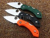 Wholesale Oem Pocket Knife - Spider DRAGONFLY 2 Knife FRN Handle C28PGR2 Plain Edge FRN handle Hunting knives Pocket Knives tool OEM hand tools