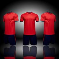 Wholesale custom blank jerseys - Top 2018 Custom Blank Team Soccer Jerseys Sets,Customized Soccer Tops With Shorts,Training Jersey Short,fashion Running Sets,soccer uniform