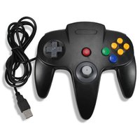 Wholesale N64 Gamepad - Woopower Hot Wired USB Game Wired Joystick Controller Gamepad For Nintendo For Gamecube N64 Style PC Mac