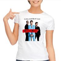 Wholesale Classic Rock Clothing - Wholesale- womens t shirts fashion 2017 Rock Roll Depeche Mode Classic T Shirts Women Clothing T-shirt woman Short Sleeve O Neck Tops Tees