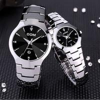 Wholesale Dom Watches - HK Top Brand DOM Luxury Men's Watch tungsten steel Wrist Watch 200m waterproof Fashion Business watch Casual sport Quartz Watches lovers wat