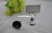 Wholesale Wedding Bell Place Cards - wedding favor party decoration--kissing bell wedding place name card holder