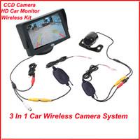 "Wholesale Tft Lcd Monitor Reversing Camera - Wholesale-Factory Promotion 4.3"" TFT LCD Monitor Car Rear View Kit + Wireless Reversing Camera Waterproof 170 Degree Free Shipping"