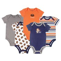 Wholesale 5 Car Themed Baby Clothing Pack Baby Bodysuits Baby Girl Boy Bodysuit Months