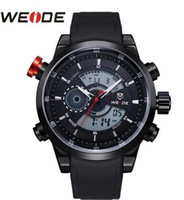 WEIDE Alta qualidade Outdoor Sports Waterproof Men's Watch PU Cinto DZ7333 Quartz Digital Multifuncionais Militar INVICTAS