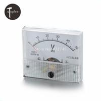 Wholesale Dc Voltmeter 85c1 - Wholesale-1 PCS 85C1-V DCDC0--50V Analog Voltmeter Tester Meaurement Tools Voltmeter Pressure Gauge