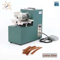 Wholesale Paper Bags Machine - V01 leather cutting machine slitting machine, leather slitter,shoe bags straight paper cutter, Vegetable tanned leather slicer,220V 50Hz