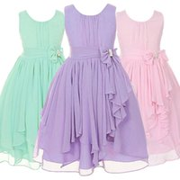 Wholesale Dresses Girl Age 12 - 12 Colors Girls Sleeveless Chiffon Dress Fashion Casual Irregular Ruffle Prom Dresses Age for 8-16 Years