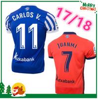 Wholesale 17 V - 2017 2018 Real Sociedad Jersey 17 18 ZURUTUZA CARLOS V AGIRRETXE home away best quality shirts