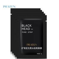 Wholesale pilaten face mask online - Pilaten Facial Black Mask Face Care Nose Acne Blackhead Remover Minerals Pore Cleanser Mask Black Head Strip maquiagem