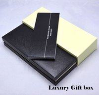 boites de noël en bois achat en gros de-Boîte de boutons de manchette de luxe MB Top Grade en bois noir bois boîte avec le manuel de garantie pour Noël anniversaire Valentine cadeaux emballage