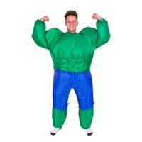 Wholesale Inflatable Superman - New Avengers Inflatable Hulk Costumes for Adults Green Monster Fancy Dress Fantasy Superman Halloween Carnival Party Cosplay