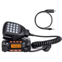 Wholesale Program Radio - Wholesale-QYT KT8900 Mini Mobile Radio + Hand Microphone Car Truck Ham USB Program Cable