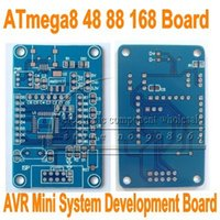 Wholesale Atmega8 Board - Wholesale-10pcs lot For ATmega8 48 88 168 AVR minimum system core board development board PCB empty plate