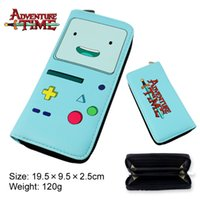 Wholesale Adventure Time Purse - allets Holders Wallets Adventure Time Wallets cosplay Finn and Jake BMO Beemo cute Purse cartoon Toy Zipper Long Wallet money bags Kids G...