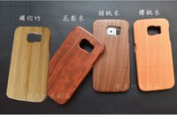 Wholesale Galaxy Bamboo Case - For Samsung Galaxy S6 Edge Luxury Wood Phone Case Hard Cover Cases Bamboo protective Shell S6 S6EDGE Plus Real Wooden Covers Back Housing