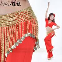 Wholesale Belly Belt Bellydance - 2017 New Style Beautiful Danse Du Ventre Belly Dance dancing Waist Chain Women Hip Scarf BellyDance Belt Belly Chain Indian Belt