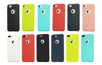 Wholesale Soft Silicone Tpu Gel Case - Matte Frosted Silicone Rubber TPU Gel Soft Phone Candy Colors Cover Case For iPhone 7 Plus Free Shipping MOQ:100pcs
