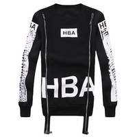 Wholesale Hood Hip Hop - Wholesale-New Men's Hood By Air Long Sleeve Tee Shirts Man HBA Hip Hop Been Trill Printed Men Camisetas Clothing